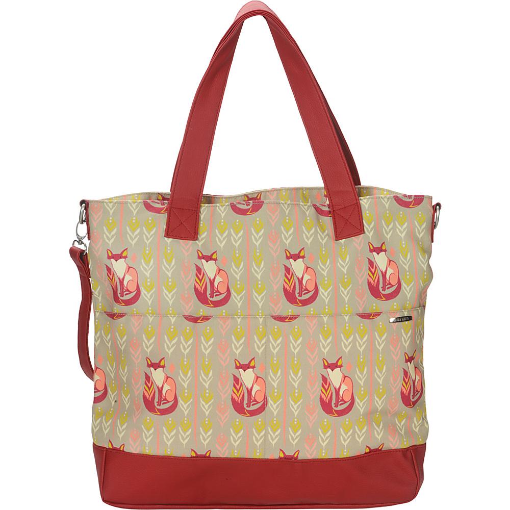 Capri Designs Sarah Watts Carryall Bag Fox - Capri Designs Fabric Handbags