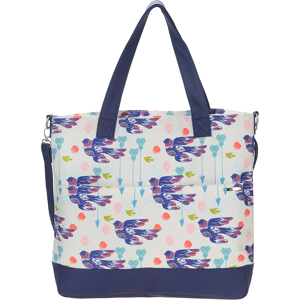 Capri Designs Sarah Watts Carryall Bag Dove Capri Designs Fabric Handbags