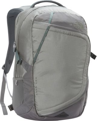 The North Face Hot Shot Laptop Backpack Moon Mist Grey/Duck Green - The North Face Business & Laptop Backpacks