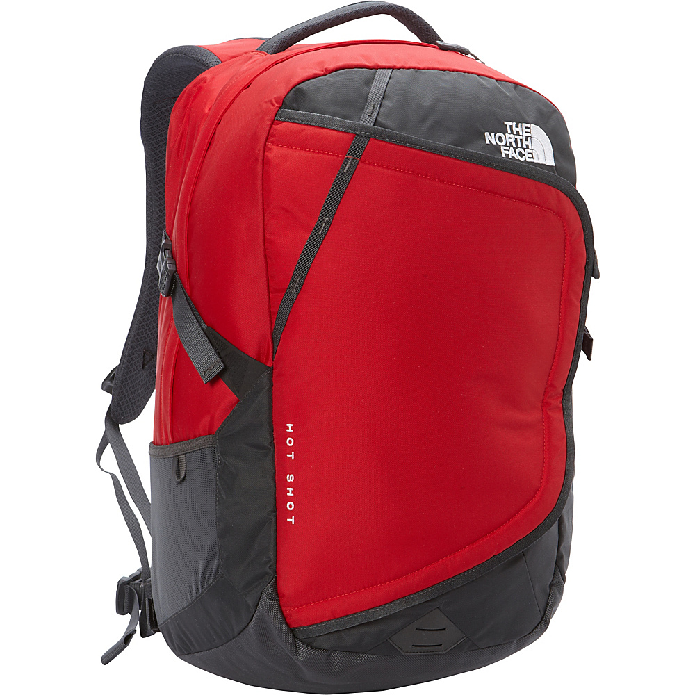 The North Face Hot Shot Laptop Backpack TNF Red Asphalt Grey The North Face Business Laptop Backpacks