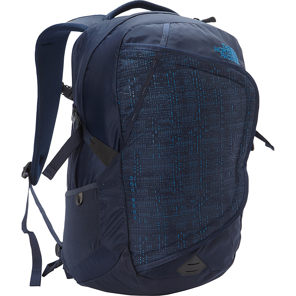 The North Face Hot Shot Laptop Backpack Urban Navy Banff Blue The North Face Business Laptop Backpacks
