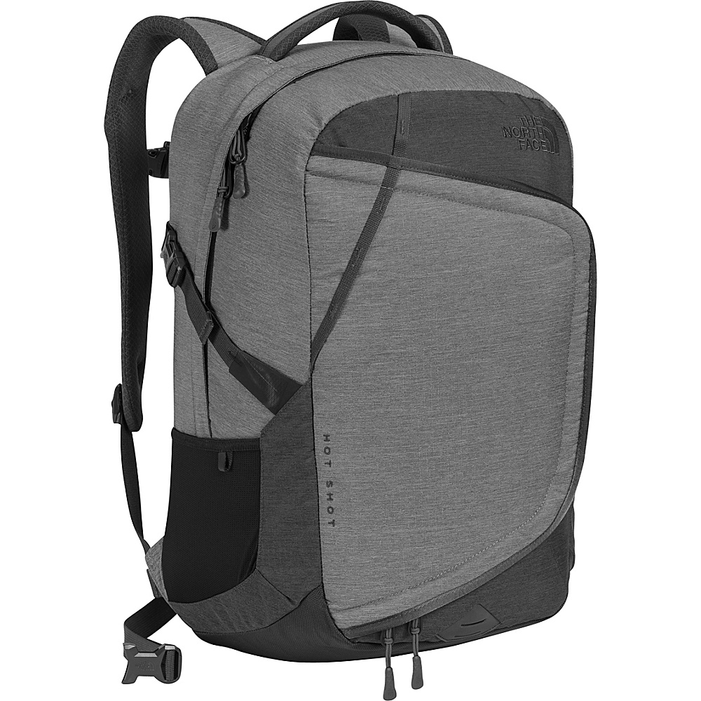The North Face Hot Shot Laptop Backpack Tnf Dark Grey Heather/Tnf Medium Grey Heather - The North Face Business & Laptop Backpacks - Backpacks, Business & Laptop Backpacks
