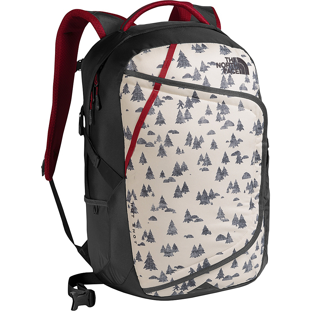 The North Face Hot Shot Laptop Backpack Vintage White Sasquatch Print/Cardinal Red - The North Face Business & Laptop Backpacks - Backpacks, Business & Laptop Backpacks