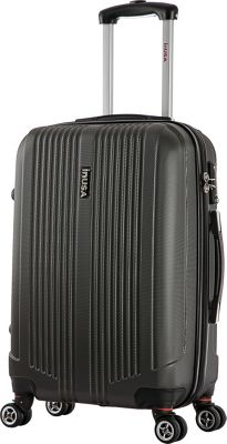 inUSA San Francisco 22 inch Lightweight Hardside Spinner Suitcase Charcoal - inUSA Hardside Checked