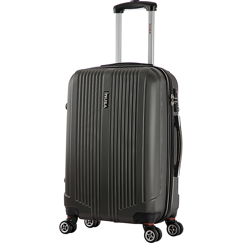 inUSA San Francisco 22 Lightweight Hardside Spinner Suitcase Charcoal inUSA Hardside Checked