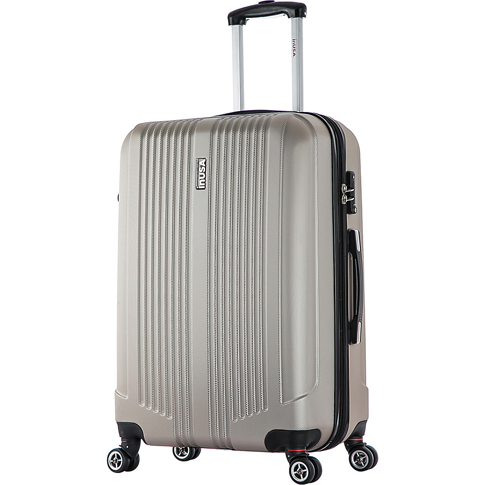 inUSA San Francisco 22 Lightweight Hardside Spinner Suitcase Champagne inUSA Hardside Checked
