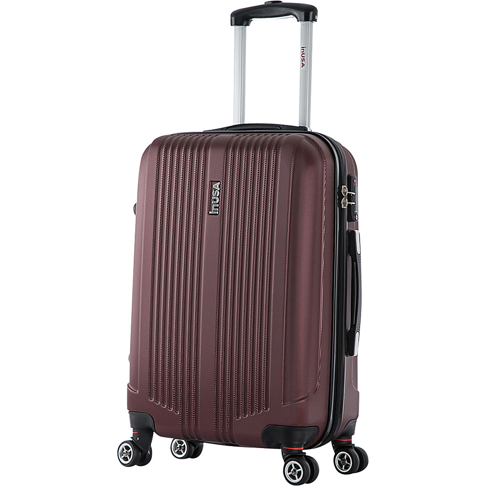 inUSA San Francisco 22 Lightweight Hardside Spinner Suitcase Wine inUSA Hardside Checked