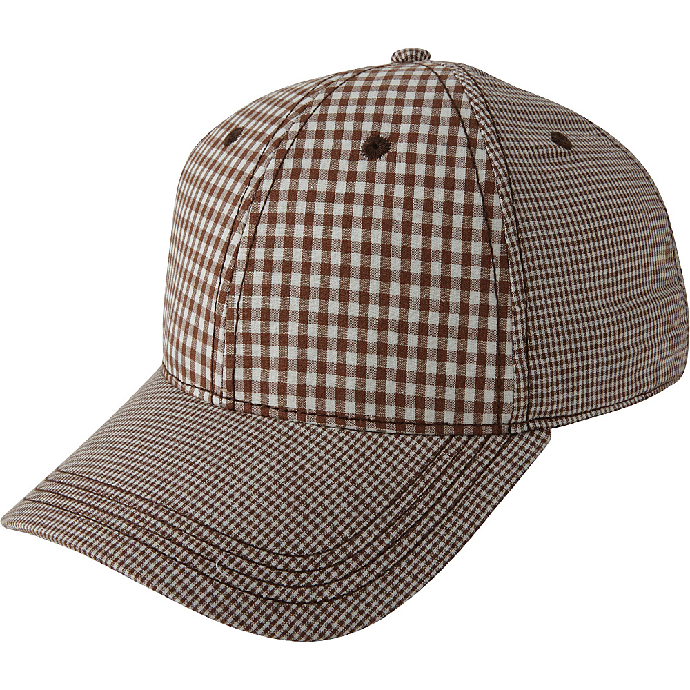 Ben Sherman Multi Check Baseball Hat Brown - Ben Sherman Hats/Gloves/Scarves