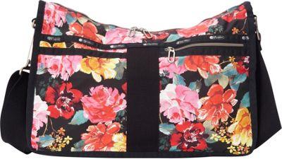 LeSportsac Everyday Bag Romantics Black C - LeSportsac Fabric Handbags