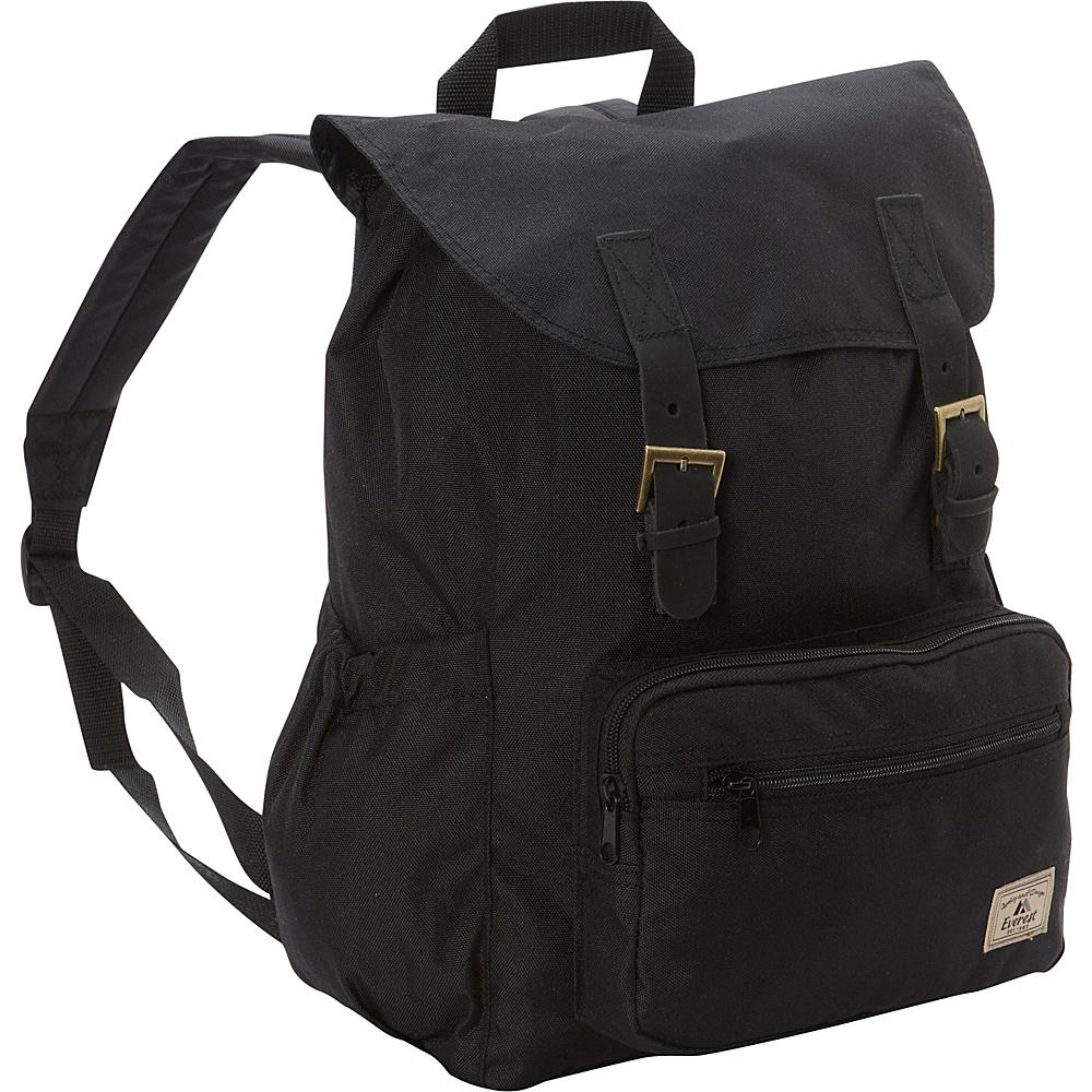 Everest Stylish Rucksack Black - Everest Everyday Backpacks - Backpacks, Everyday Backpacks