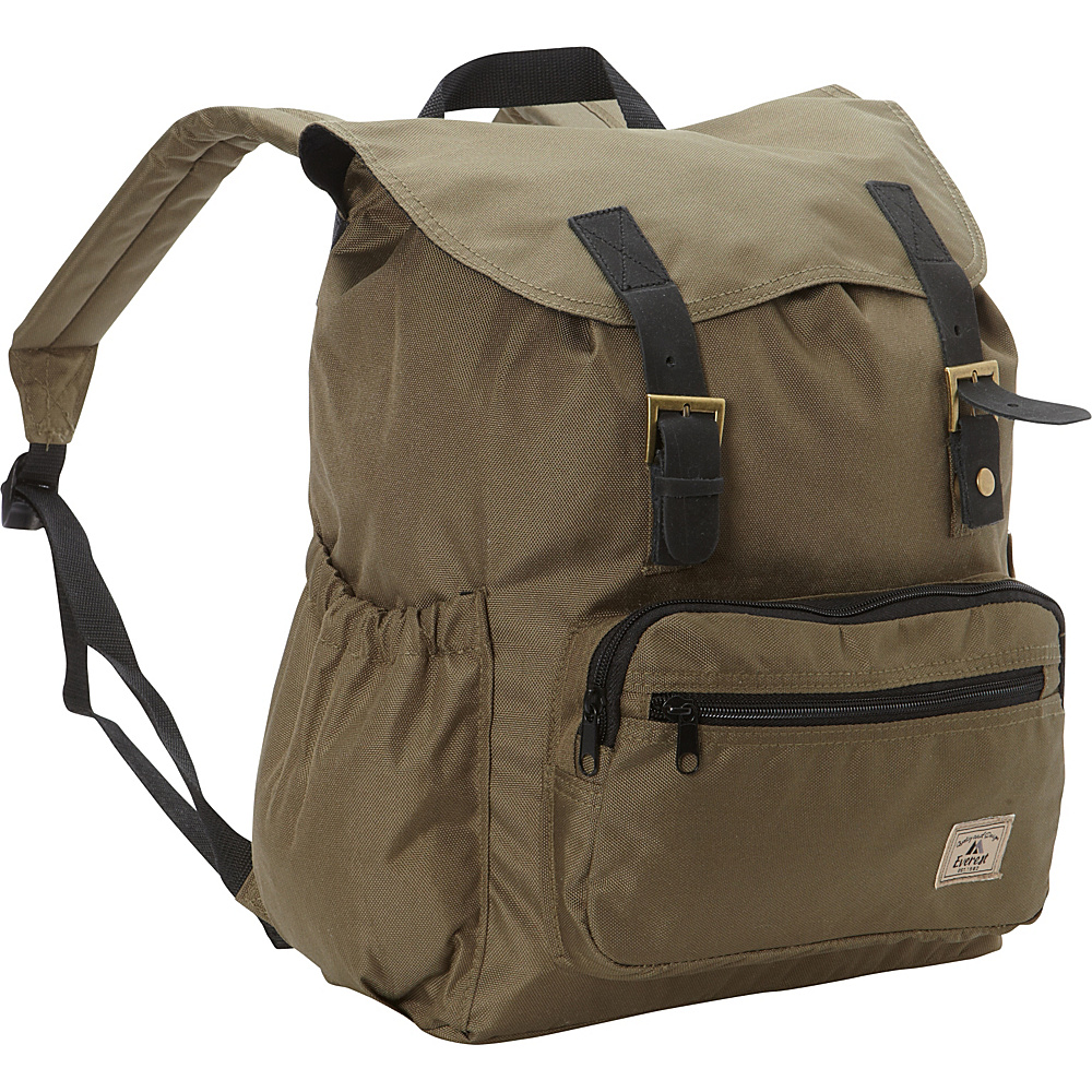 Everest Stylish Rucksack Olive - Everest Everyday Backpacks - Backpacks, Everyday Backpacks