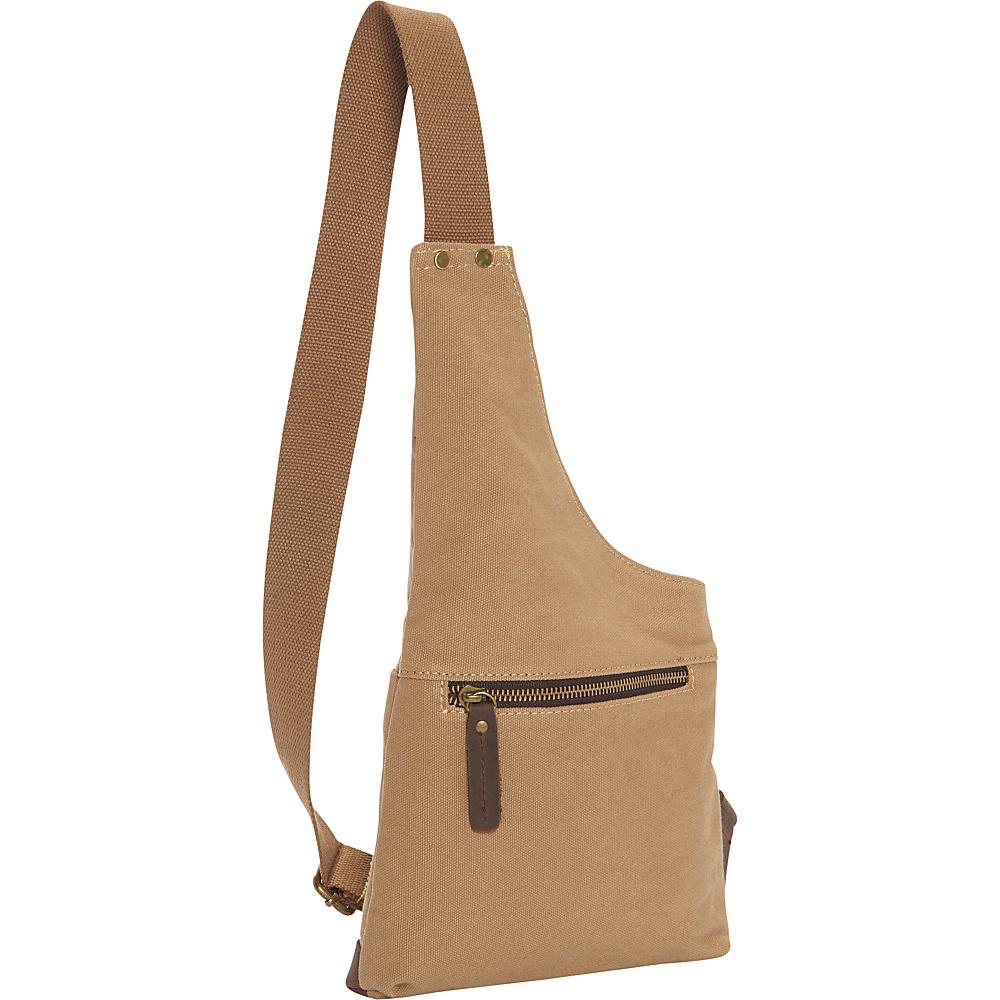 Vagabond Traveler Slim Casual Canvas Chest Pack Khaki - Vagabond Traveler Waist Packs - Backpacks, Waist Packs