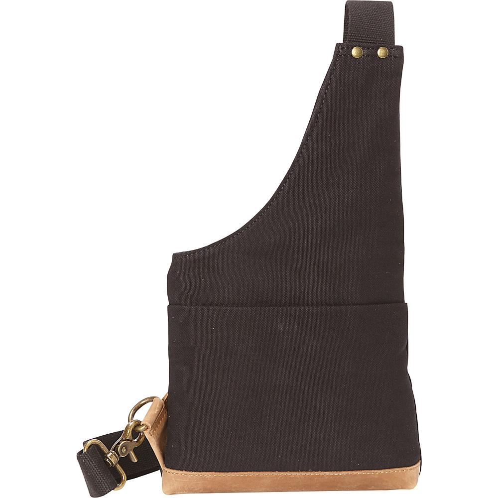 Vagabond Traveler Slim Casual Canvas Chest Pack Black - Vagabond Traveler Waist Packs - Backpacks, Waist Packs