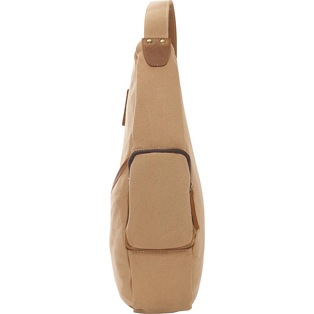 Vagabond Traveler Spacious Shoulder Carry Travel Pack Bag Khaki - Vagabond Traveler Waist Packs - Backpacks, Waist Packs