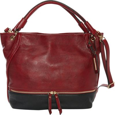 Hush Puppies Kira Hobo Bordeaux /Black - Hush Puppies Manmade Handbags