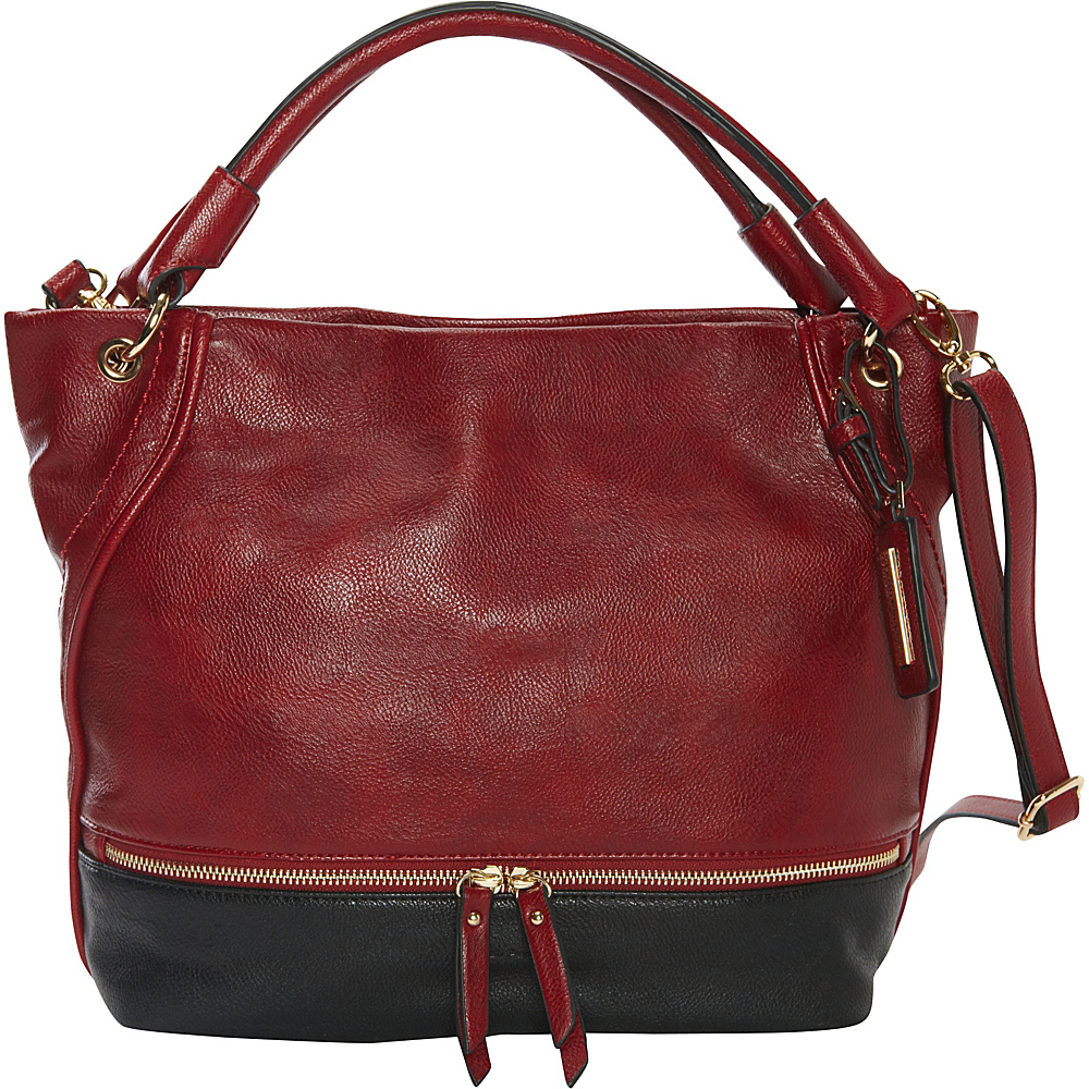 Hush Puppies Kira Hobo Bordeaux Black Hush Puppies Manmade Handbags
