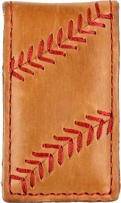 Rawlings Baseball Stitch Money Clip Tan - Rawlings Men's Wallets