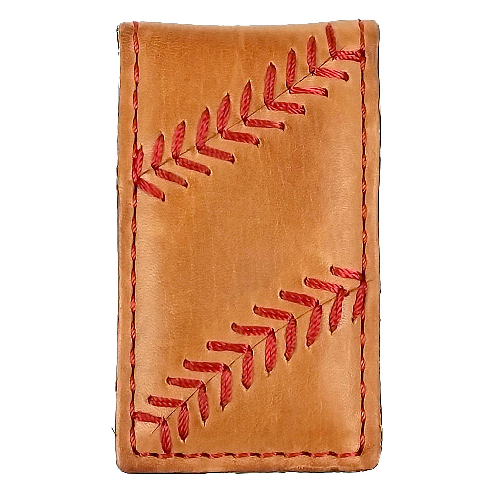 Rawlings Baseball Stitch Money Clip Tan Rawlings Men s Wallets