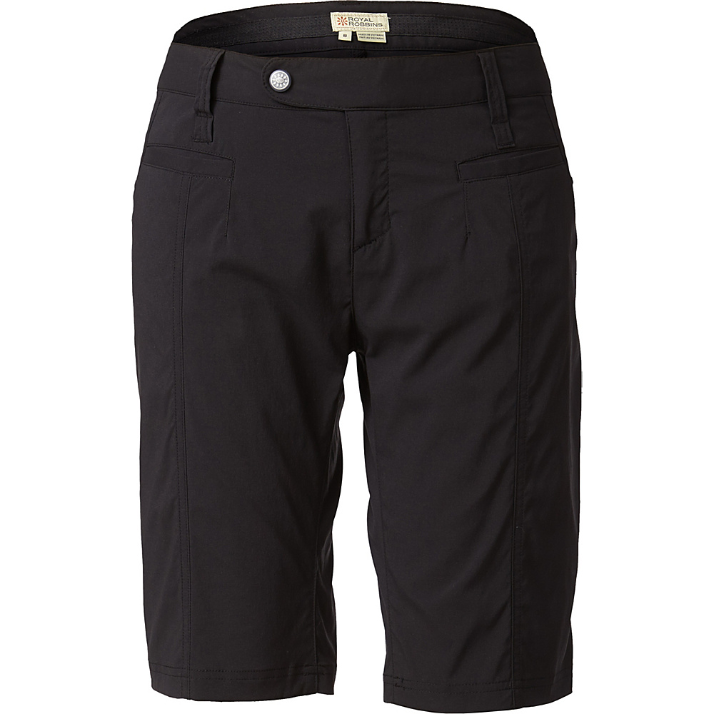 Royal Robbins Womens Discovery Bermuda Short 2 - Jet Black - Royal Robbins Womens Apparel - Apparel & Footwear, Women's Apparel