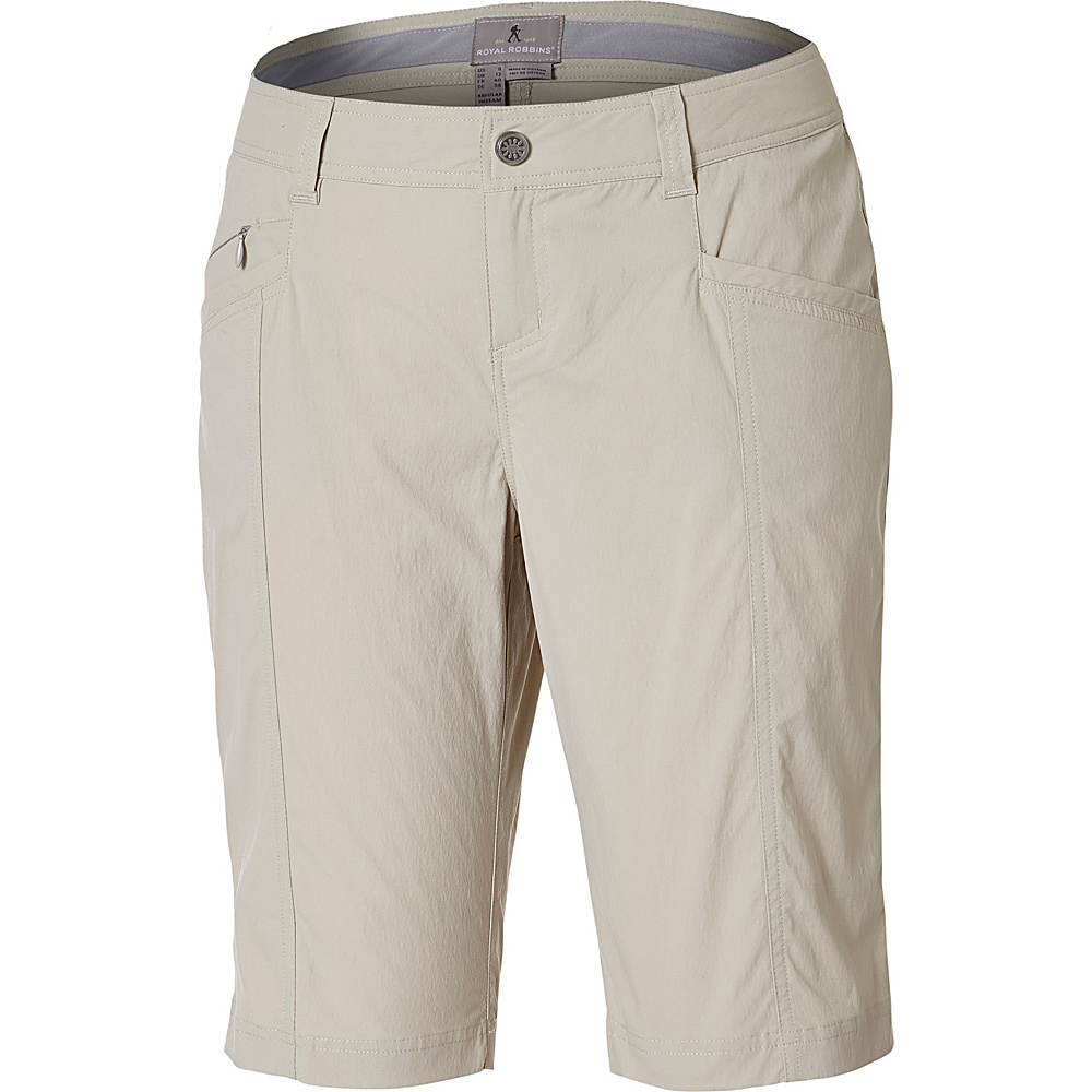 Royal Robbins Womens Discovery Bermuda Short 14 - Sandstone - Royal Robbins Womens Apparel - Apparel & Footwear, Women's Apparel