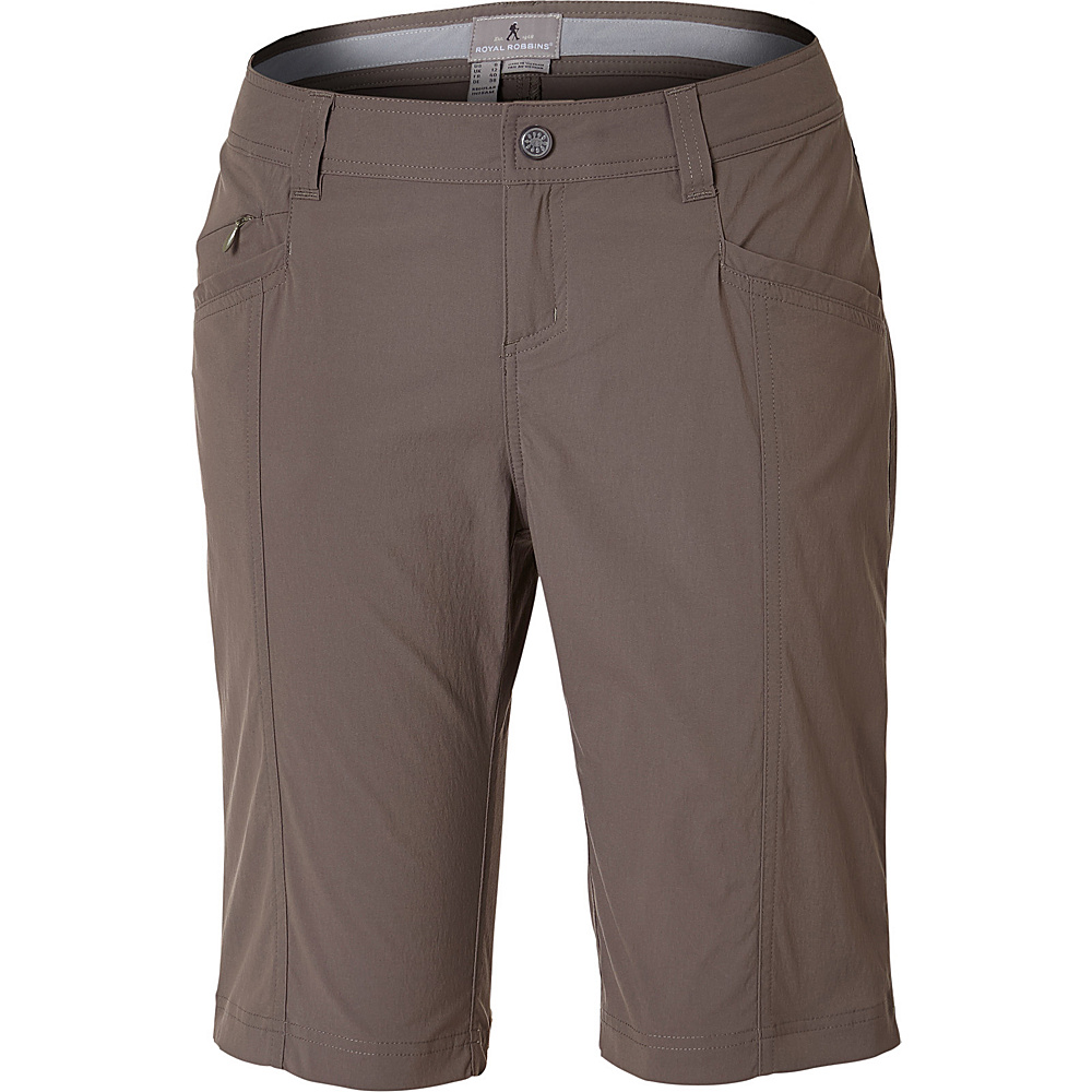 Royal Robbins Womens Discovery Bermuda Short 10 - Taupe - Royal Robbins Womens Apparel - Apparel & Footwear, Women's Apparel
