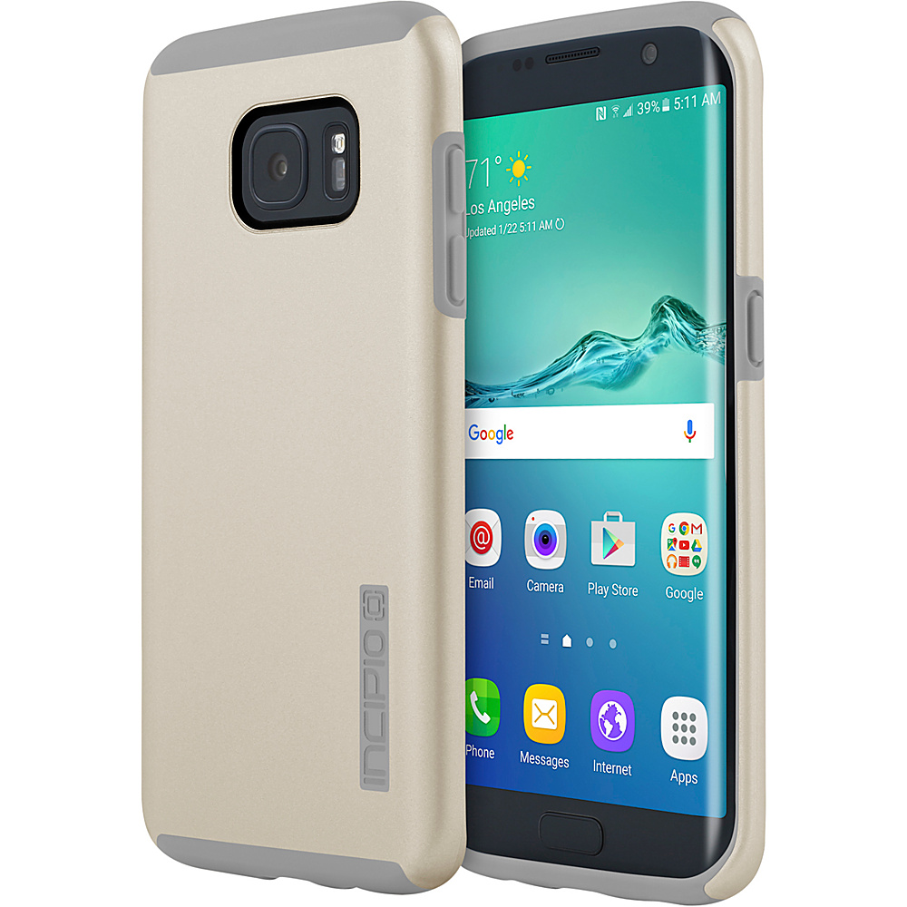 Incipio DualPro for Samsung Galaxy S7 Edge Champagne/Gray - Incipio Electronic Cases - Technology, Electronic Cases