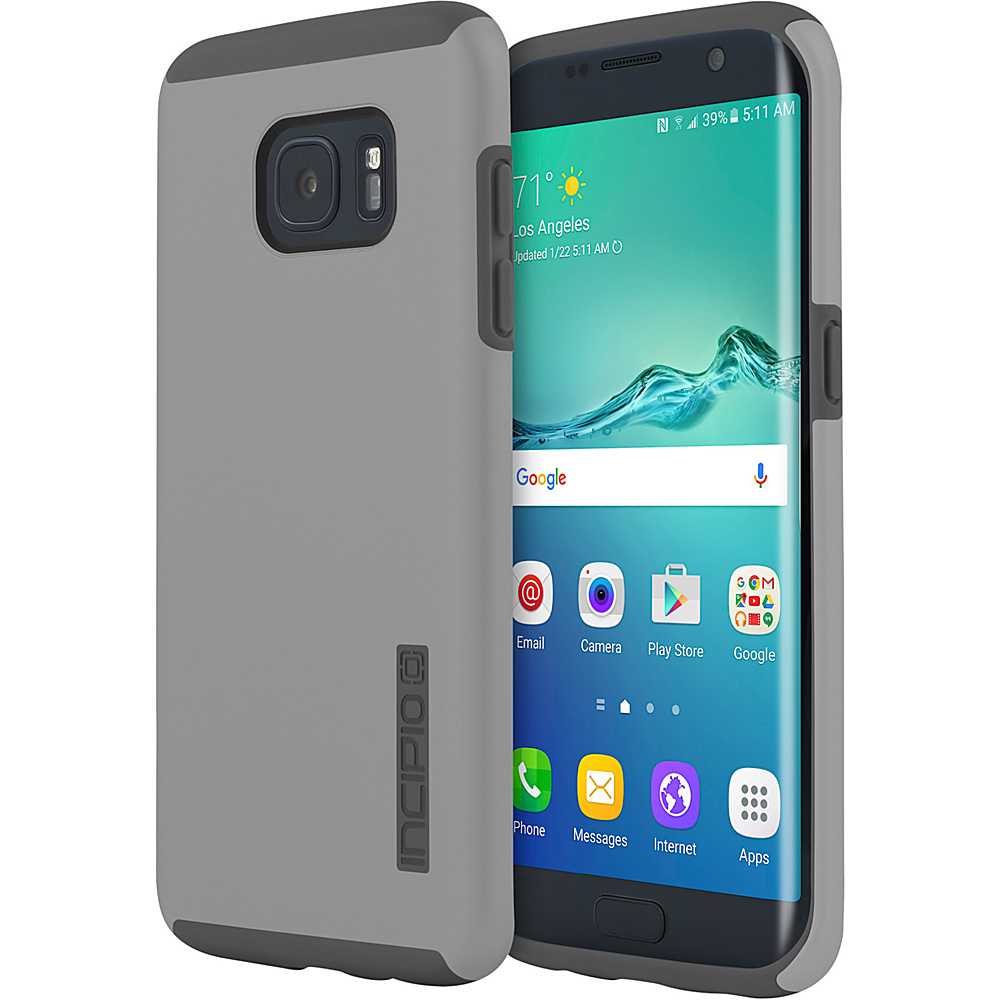 Incipio DualPro for Samsung Galaxy S7 Edge Gray/Gray - Incipio Electronic Cases - Technology, Electronic Cases