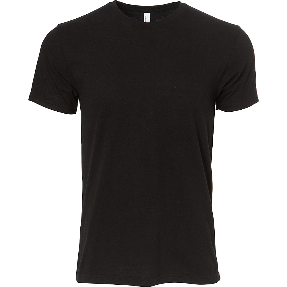 Simplex Apparel CVC Mens Crew Tee M - Black - Simplex Apparel Mens Apparel - Apparel & Footwear, Men's Apparel