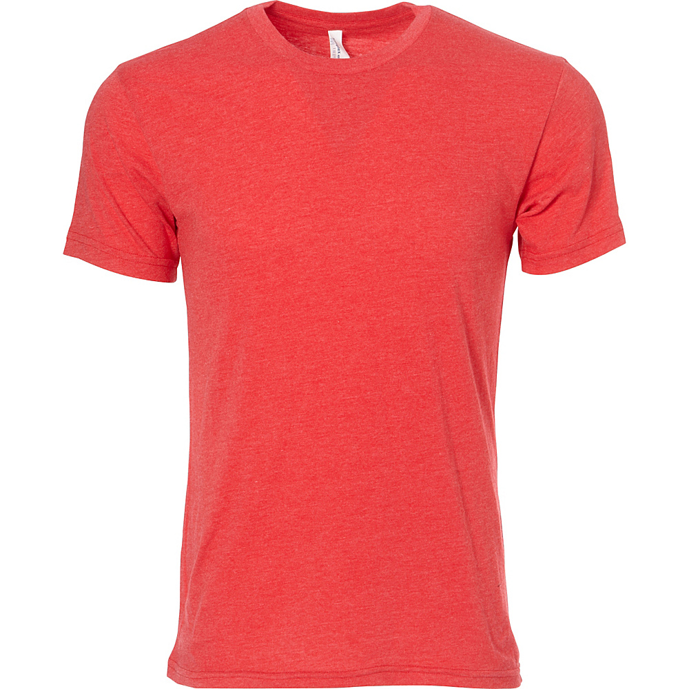 Simplex Apparel CVC Mens Crew Tee L - Red - Simplex Apparel Mens Apparel - Apparel & Footwear, Men's Apparel