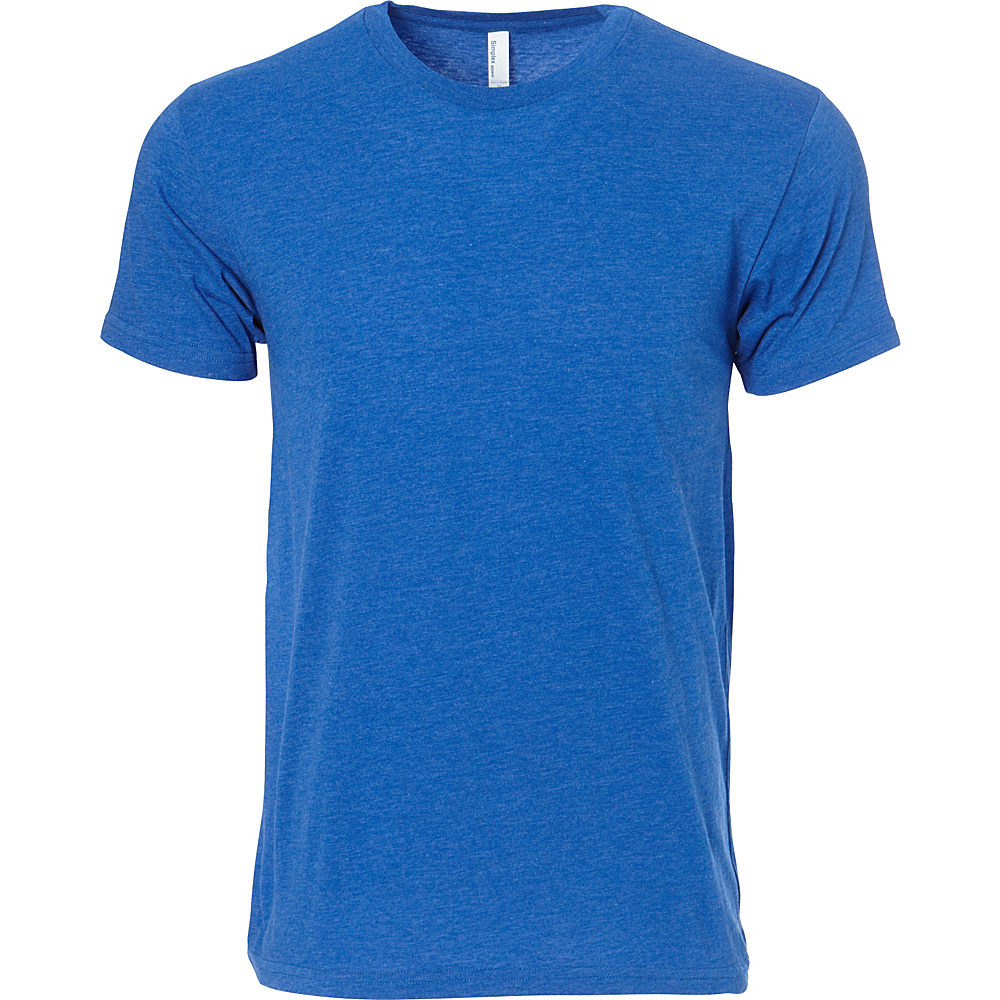 Simplex Apparel CVC Mens Crew Tee L - Royal - Simplex Apparel Mens Apparel - Apparel & Footwear, Men's Apparel