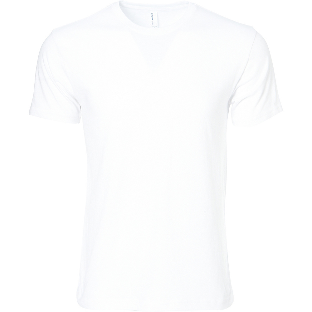 Simplex Apparel CVC Mens Crew Tee S - White - Simplex Apparel Mens Apparel - Apparel & Footwear, Men's Apparel