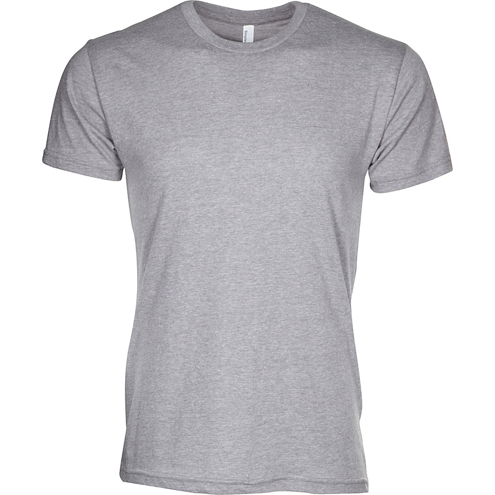 Simplex Apparel CVC Mens Crew Tee XL - Dark Heather Grey - Simplex Apparel Mens Apparel - Apparel & Footwear, Men's Apparel