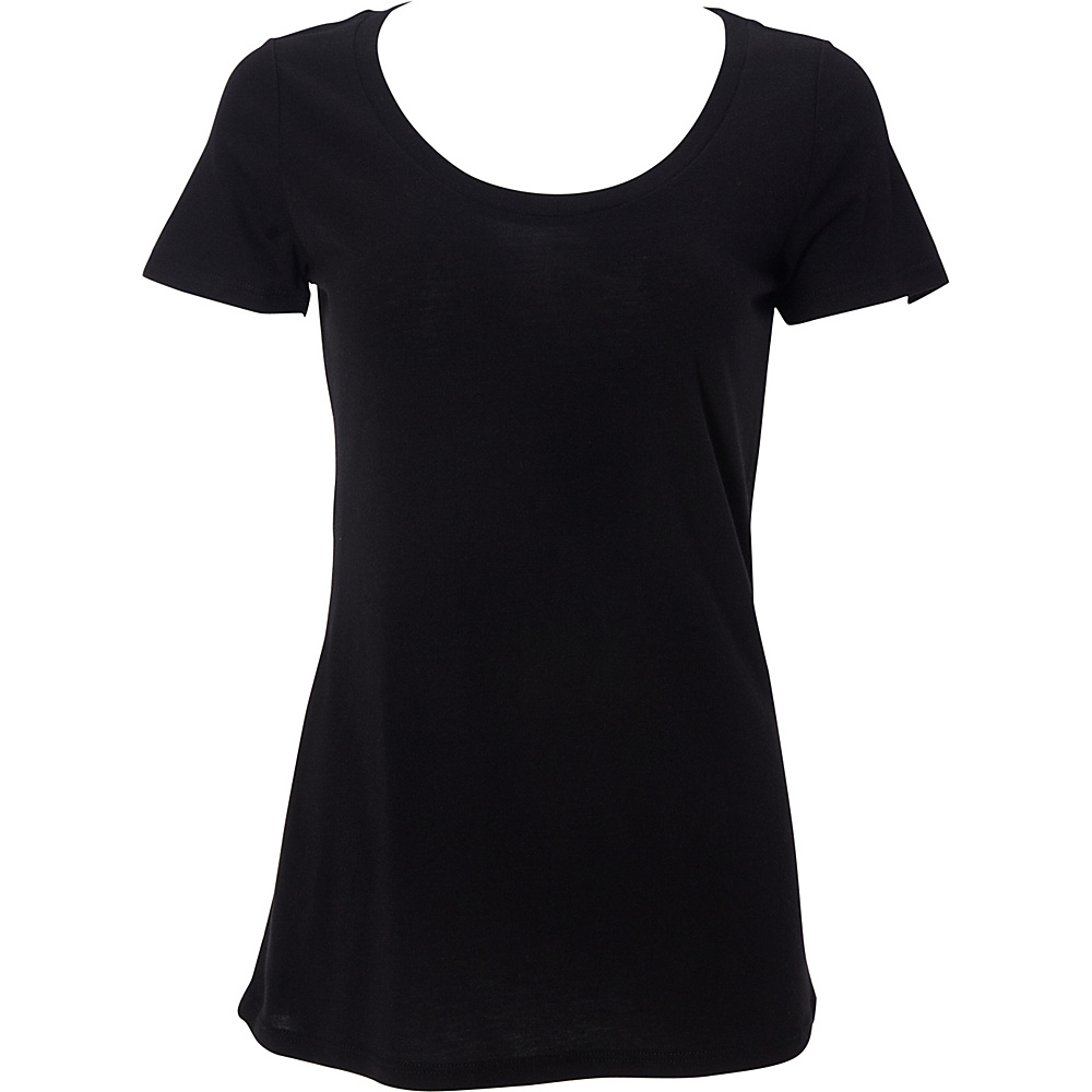 Simplex Apparel Modal Womens Scoop Tee L - Black - Simplex Apparel Womens Apparel - Apparel & Footwear, Women's Apparel