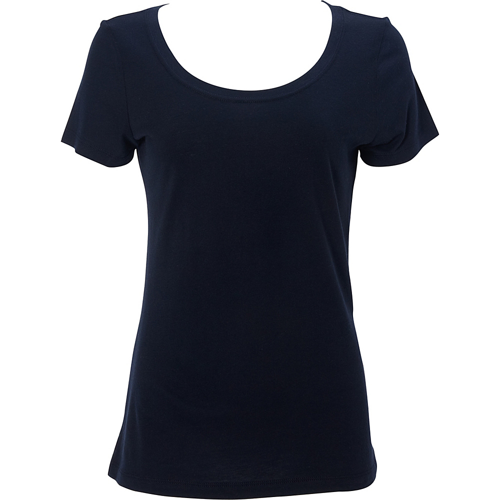 Simplex Apparel Modal Womens Scoop Tee L - Navy - Simplex Apparel Womens Apparel - Apparel & Footwear, Women's Apparel