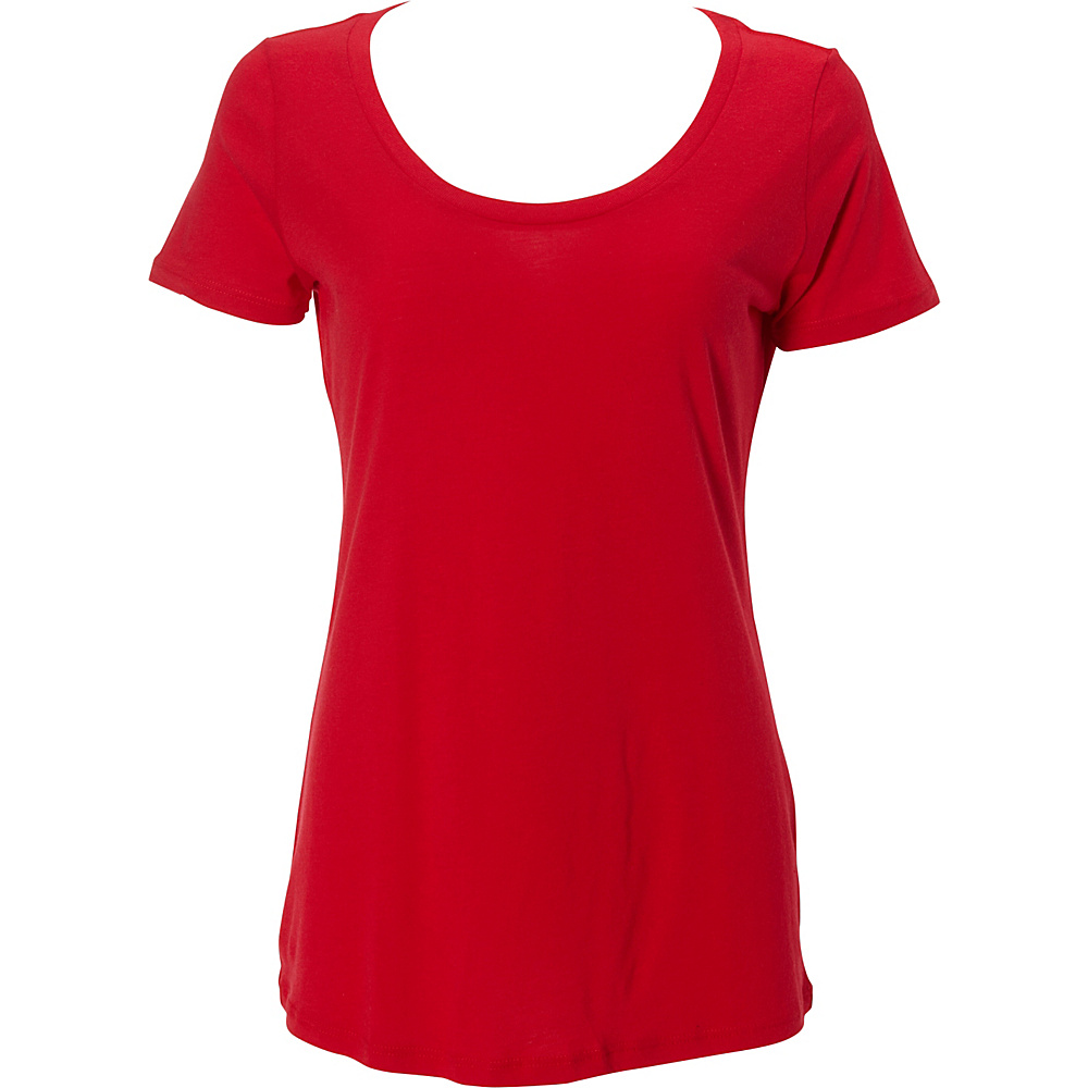Simplex Apparel Modal Womens Scoop Tee S - Red - Simplex Apparel Womens Apparel - Apparel & Footwear, Women's Apparel