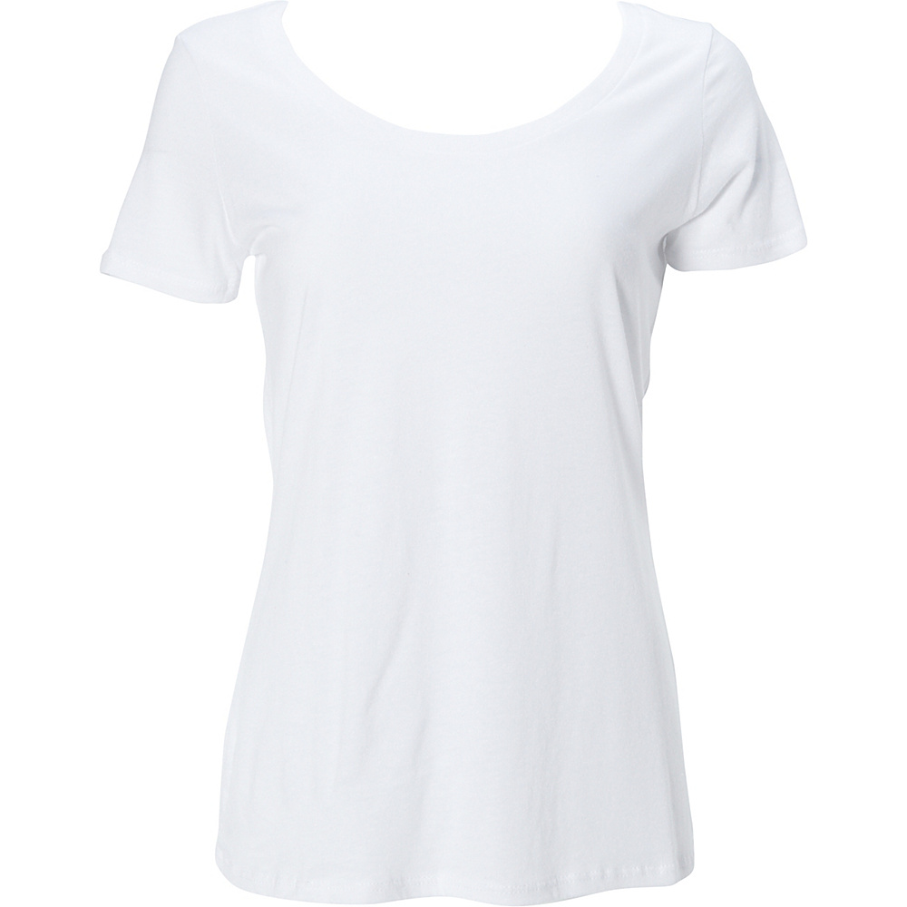 Simplex Apparel Modal Womens Scoop Tee 2XL - White - Simplex Apparel Womens Apparel - Apparel & Footwear, Women's Apparel