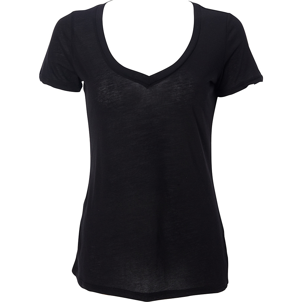 Simplex Apparel Boutique Womens Deep V Tee L - Black - Simplex Apparel Womens Apparel - Apparel & Footwear, Women's Apparel