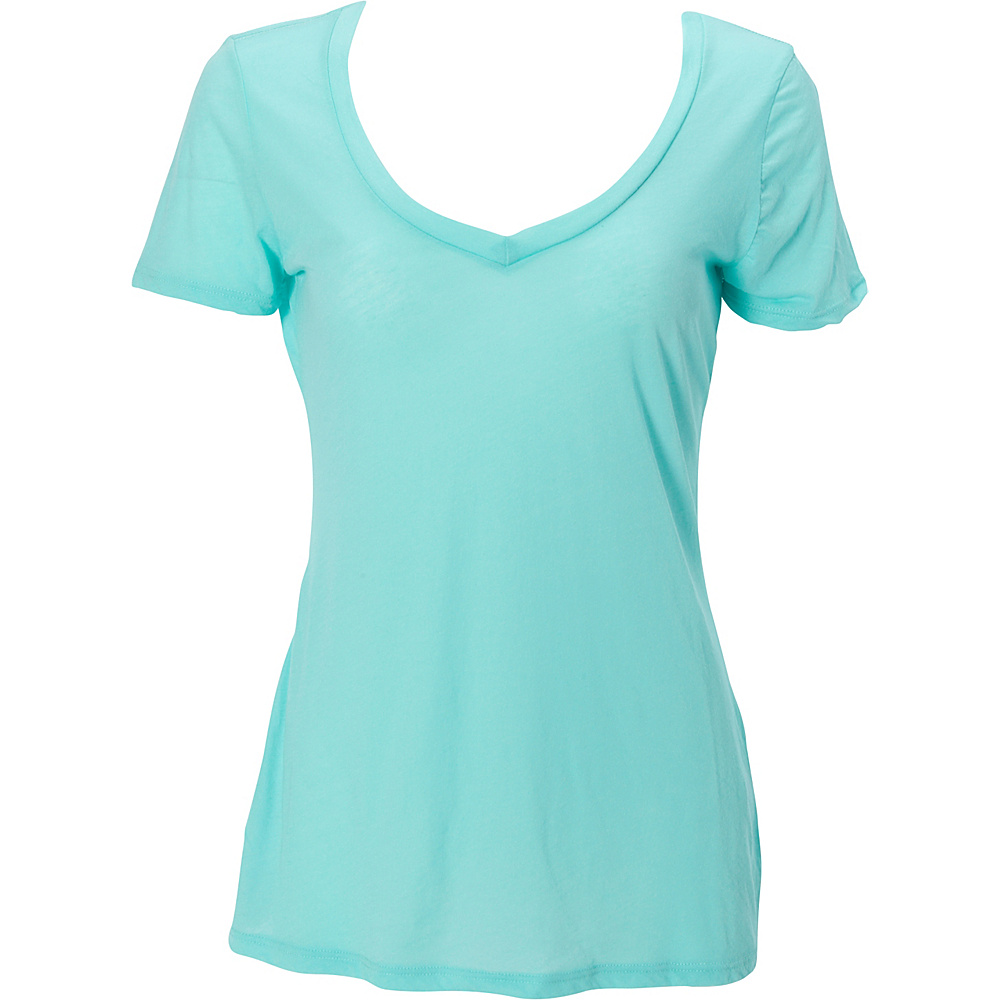 Simplex Apparel Boutique Womens Deep V Tee XS - Mint - Simplex Apparel Womens Apparel - Apparel & Footwear, Women's Apparel