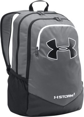 Under Armour Boys Scrimmage Backpack Graphite / Black / White / White - Under Armour Business & Laptop Backpacks