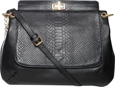 Gregory Sylvia Bartlett Crossbody Bag Black - Gregory Sylvia Leather Handbags