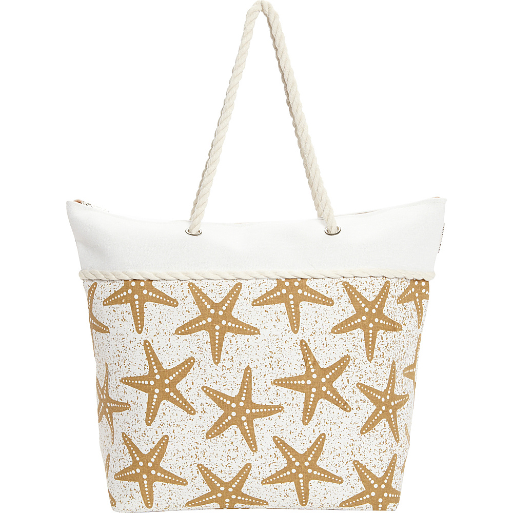 Sun N Sand Salt Point Tote Tan - Sun N Sand Fabric Handbags - Handbags, Fabric Handbags