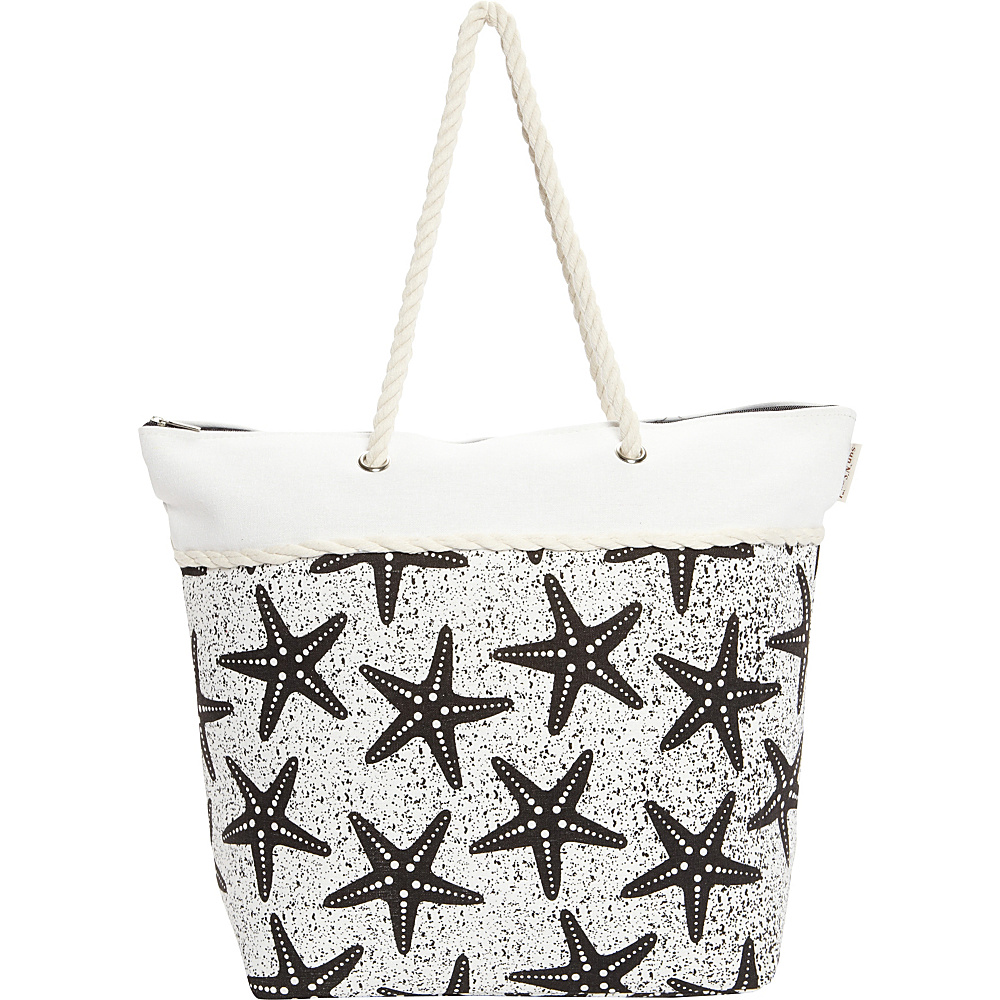 Sun N Sand Salt Point Tote Black - Sun N Sand Fabric Handbags - Handbags, Fabric Handbags