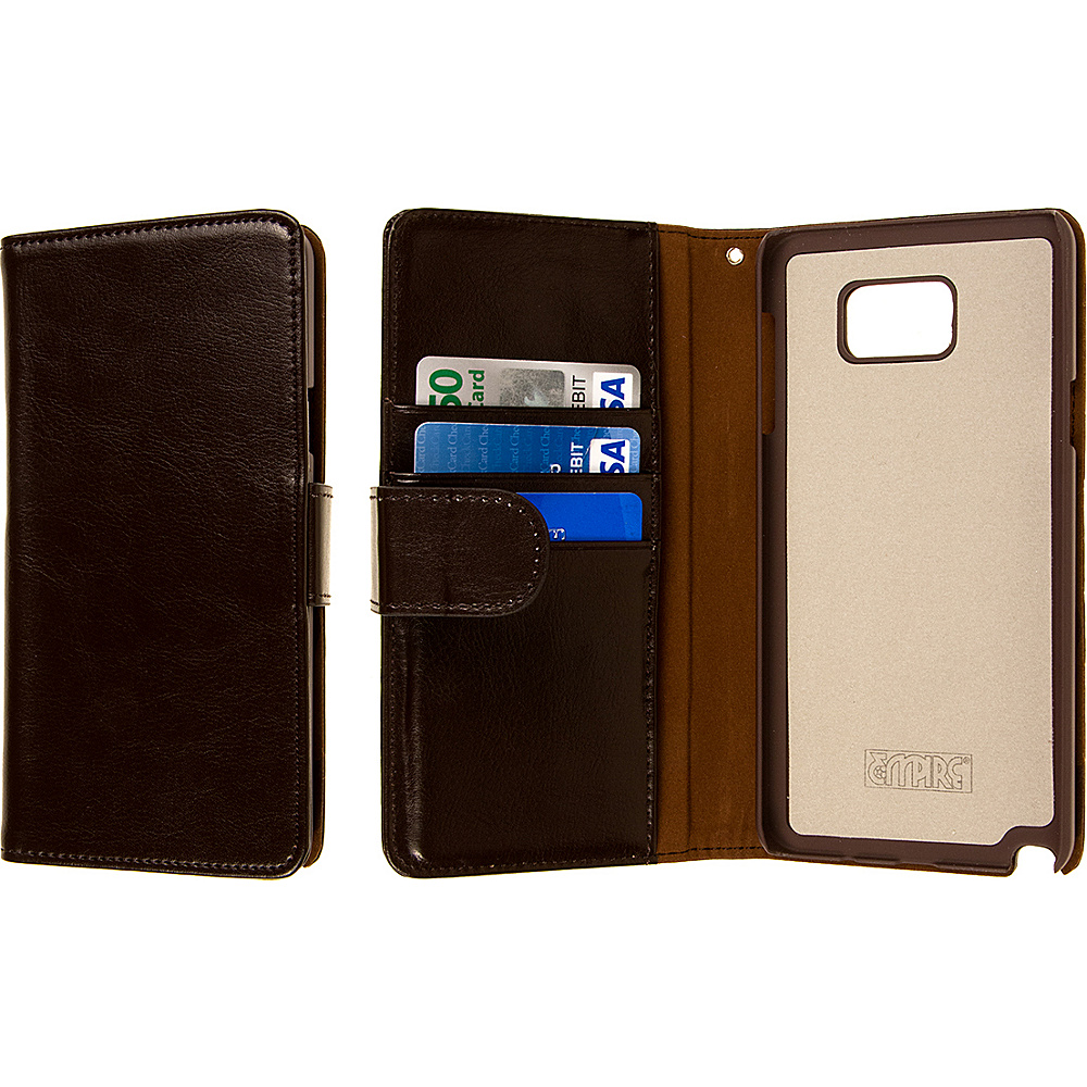 EMPIRE KLIX Genuine Leather Wallet for Samsung Galaxy Note 5 Brown EMPIRE Electronic Cases