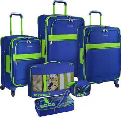 U.S. Traveler Alamosa 6-Piece Luggage Set Royal Blue - U.S. Traveler Luggage Sets