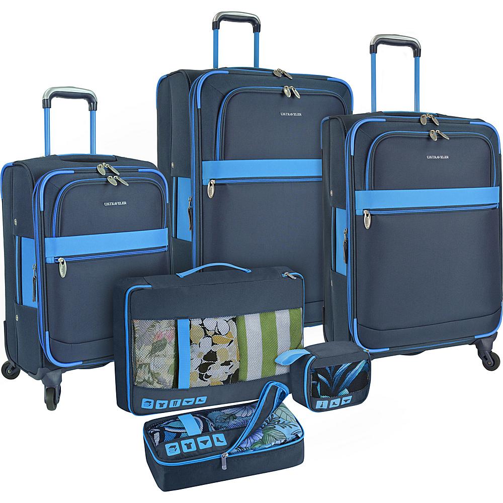U.S. Traveler Alamosa 6 Piece Luggage Set Navy U.S. Traveler Luggage Sets