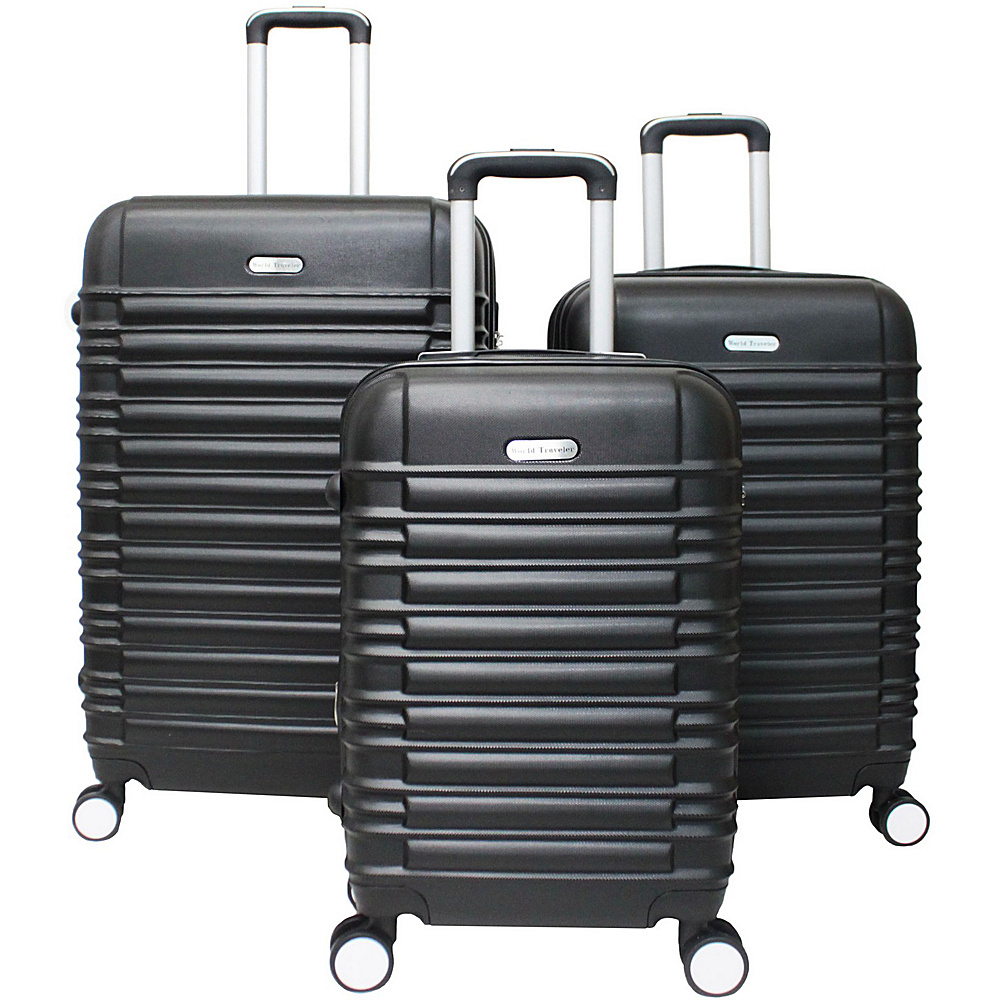 World Traveler California Hardside 3-Piece Spinner Luggage Set Black - World Traveler Luggage Sets - Luggage, Luggage Sets