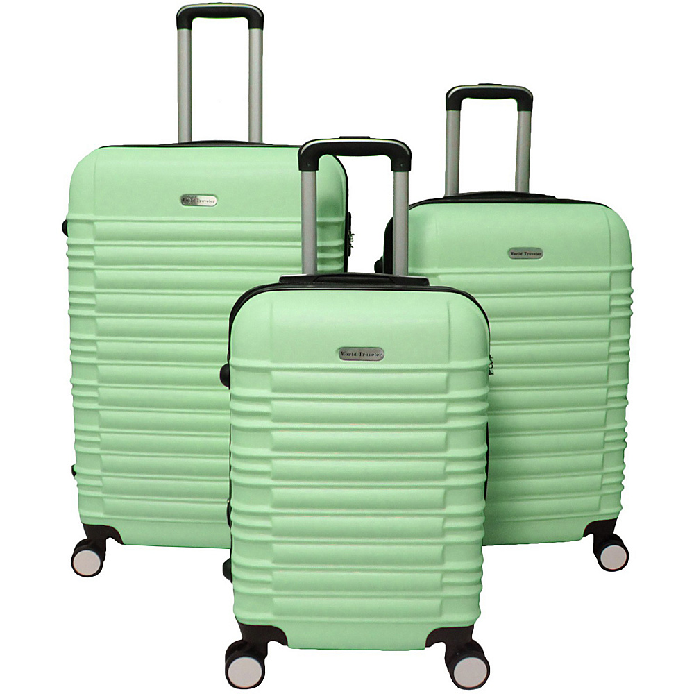 World Traveler California Hardside 3-Piece Spinner Luggage Set Green - World Traveler Luggage Sets - Luggage, Luggage Sets