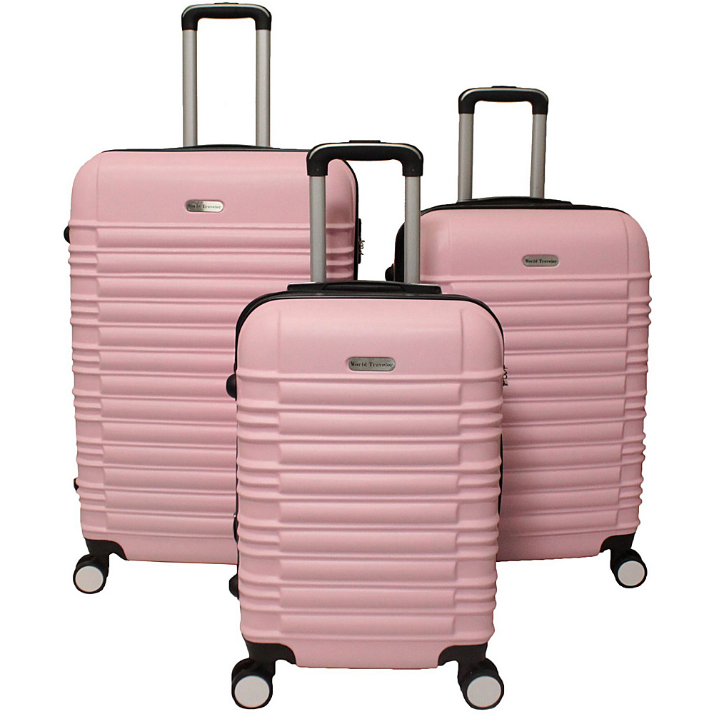 World Traveler California Hardside 3-Piece Spinner Luggage Set Pink - World Traveler Luggage Sets - Luggage, Luggage Sets