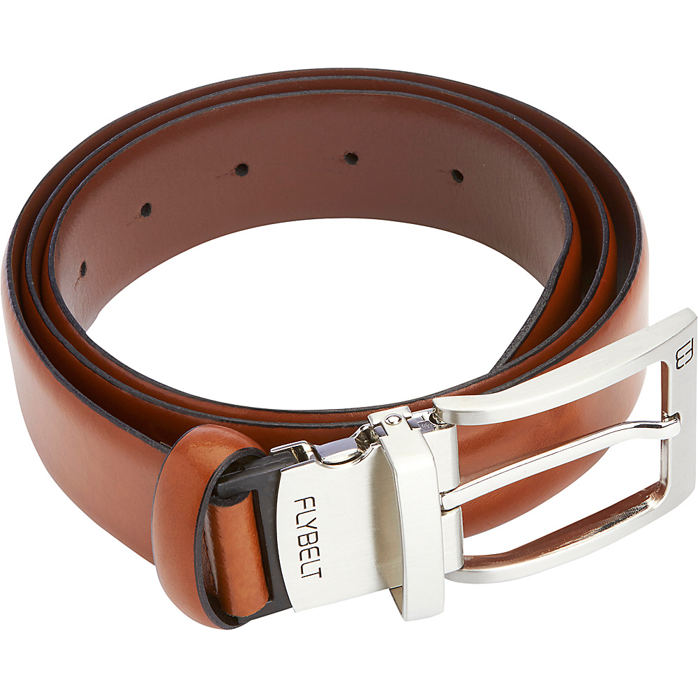 Royce Leather Airport Security Checkpoint Friendly Belt in Italian Genuine Leather with Detachable Chrome Buckle Cognac - 44 - Royce Leather Other Fashion Accessories - Fashion Accessories, Other Fashion Accessories