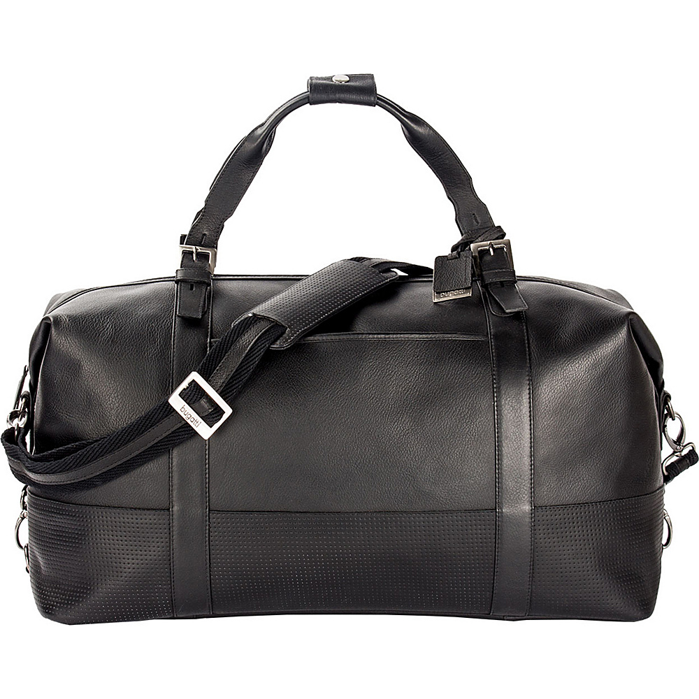 Bugatti Soledad Leather Duffle Bag Black Bugatti Travel Duffels